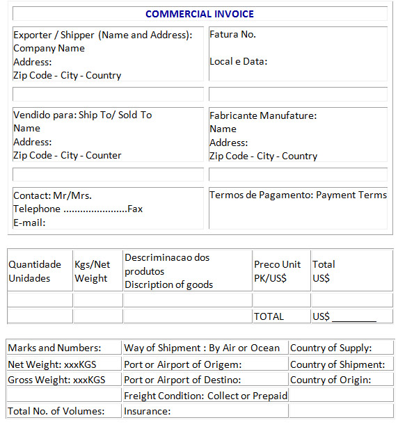 Modelo De Invoice Pertaminico - Modelo de invoice